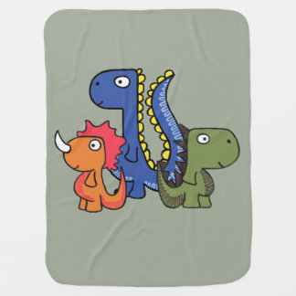 A whimsical dinosaur friend, cute and adorable. baby blanket