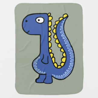 A whimsical dinosaur friend, cute and adorable. baby blankets