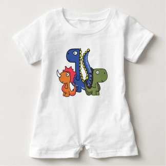 A whimsical dinosaur friend, cute and adorable. baby bodysuit
