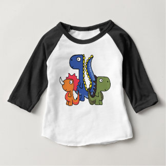 A whimsical dinosaur friend, cute and adorable. baby T-Shirt