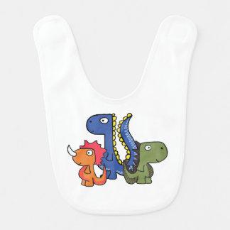 A whimsical dinosaur friend, cute and adorable. bib
