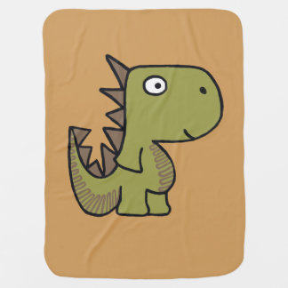 A whimsical dinosaur friend, cute and adorable. buggy blankets