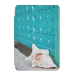 A White And Pink Jamaican Sea Shell Sits Alone iPad Mini Cover