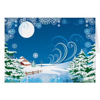 A White Christmas Greeting Card