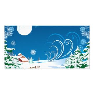 A White Christmas Custom Photo Card