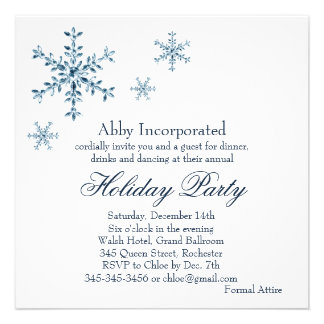 A White Glamorous Holiday Invitation corp