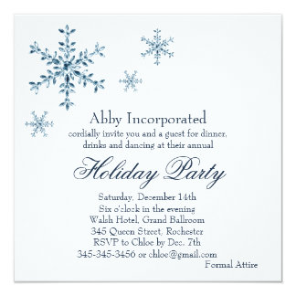 A White Glamorous Holiday Invitation (corp)