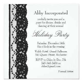 A White Lace Holiday Invitation