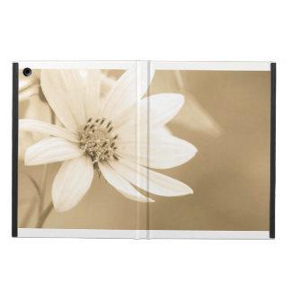 A white sunflower iPad air cover