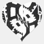 A whole clockwork effect heart stickers