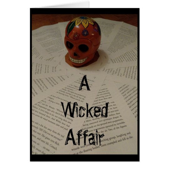 """""""A Wicked Affair"""" Greeting Card Invitation"""