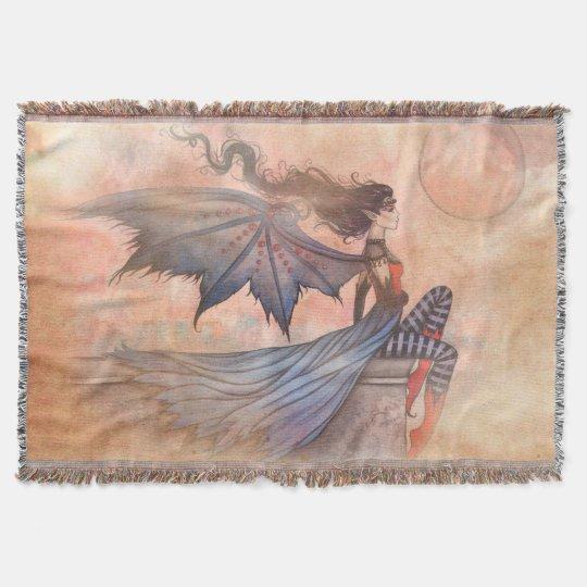 A Wicked Wind Gothic Vampire Fairy Art Throw