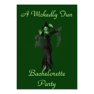 """A Wickedly Fun Bachelorette Party"" w/ Witch 13 Cm X 18 Cm Invitation Card"