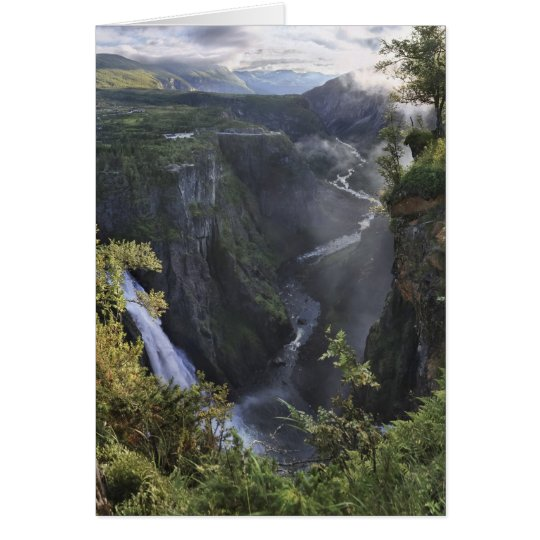 A wide evening view - Hordaland, Norway Card