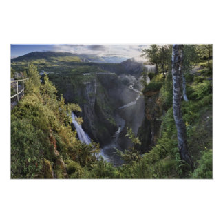 A wide evening view - Hordaland, Norway Poster