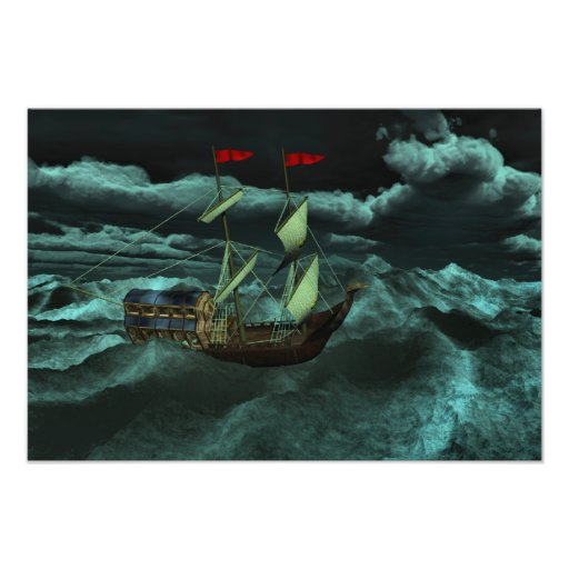 A Wild and Stormy Sea Photo Print