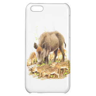 A Wild Boar and Babies Case For iPhone 5C