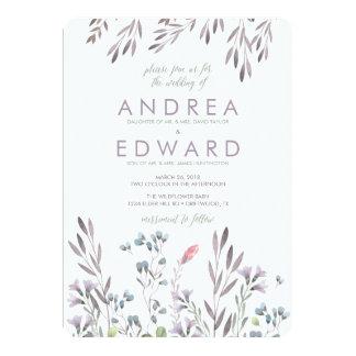 A Wildflower Wedding 13 Cm X 18 Cm Invitation Card