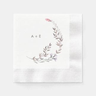 A Wildflower Wedding Disposable Serviette