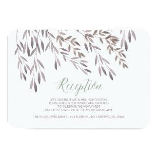 A Wildflower Wedding Reception Enclosure Card 9 Cm X 13 Cm Invitation Card