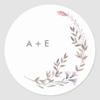 A Wildflower Wedding Round Sticker