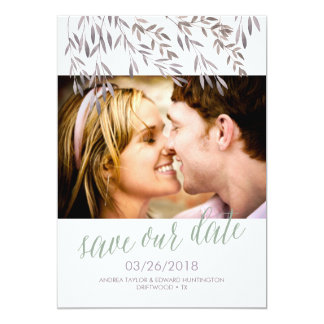 A Wildflower Wedding Save the Date Card