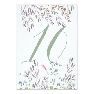 A Wildflower Wedding Table No. 10 Double Sided 13 Cm X 18 Cm Invitation Card