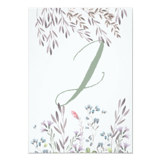 A Wildflower Wedding Table No. 2 Double Sided Card 13 Cm X 18 Cm Invitation Card
