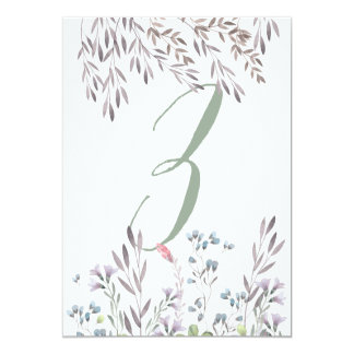 A Wildflower Wedding Table No. 3 Double Sided Card