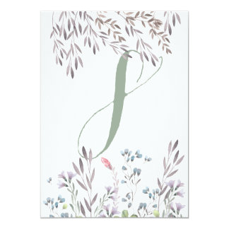 A Wildflower Wedding Table No. 8 Double Sided Card