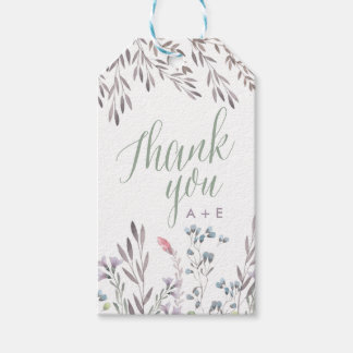 A Wildflower Wedding Thank You Gift Tag