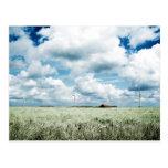 A wind farm post cards