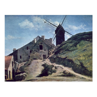 A Windmill at Montmartre, 1840-45 Postcard