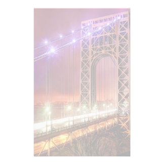A windy and rainy evening view from Fort Lee Custom Stationery