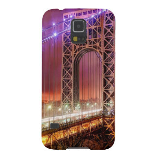 A windy and rainy evening view from Fort Lee Galaxy S5 Case