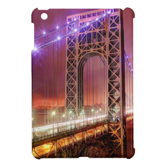 A windy and rainy evening view from Fort Lee iPad Mini Cover