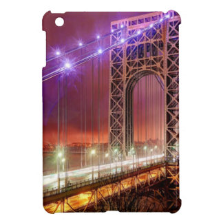 A windy and rainy evening view from Fort Lee iPad Mini Covers