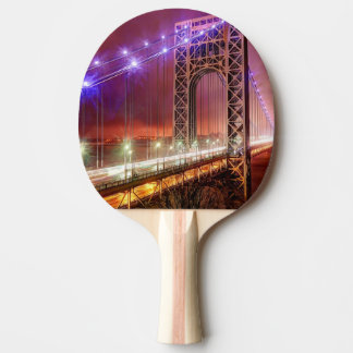 A windy and rainy evening view from Fort Lee Ping Pong Paddle