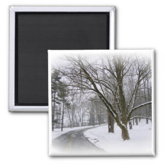 A Winter Afternoon Drive Refrigerator Magnets