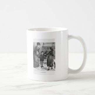 A Winter Day Victorian Christmas Basic White Mug