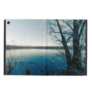 A winter lake iPad air cover