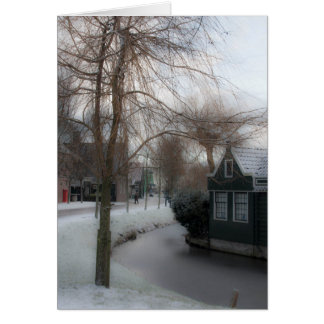 A Winter's Scene, Zaanse Schans, Netherlands Card