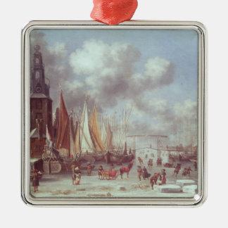 A Winter Scene in Amsterdam Christmas Ornament