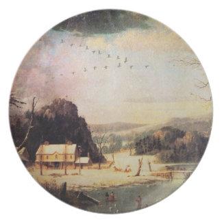 A Winter Scene Plate