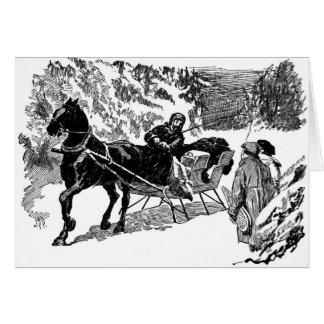 a winter sleigh ride cards