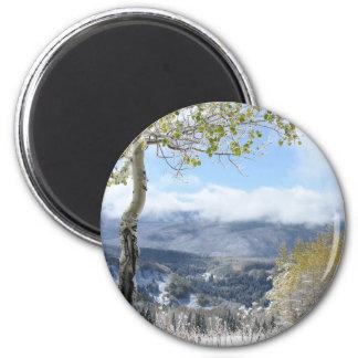A Winter View 6 Cm Round Magnet