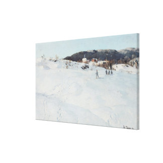 A Winter's Day in Norway, 1886 Canvas Print