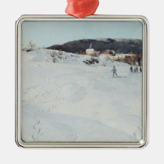 A Winter's Day in Norway, 1886 Christmas Ornament
