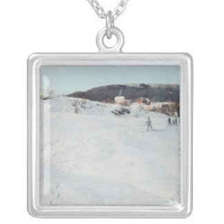 A Winter's Day in Norway, 1886 Silver Plated Necklace