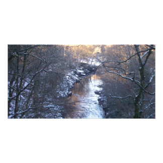 A winters day customized photo card